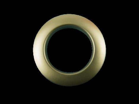Kunststoffösen 55mm/36mm Messing Matt